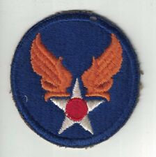 WWII US Army Air Force Embroidered Cut Edge SSI Patch White Back