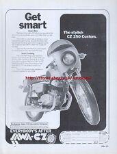 "Jawa CZ 250 Custom ""Get Smart"" 1978 Motorcycle Magazine Advert #1834"