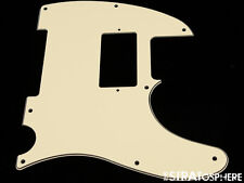 *NEW Cream HUMBUCKER Telecaster PICKGUARD for USA Fender Tele 3 Ply 8 Hole