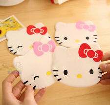 4PCS Cute Hello Kitty Head Shaped Cup Mug Beer Coasters Mat Pad