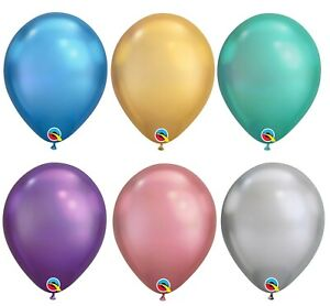 """11"""" Chrome Latex Balloons Helium Air Qualatex Party Events Decorations Wedding"""