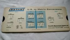 Vintage Instant Us to Metric Conversions Calculator Slide Rule