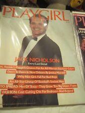 10 1980's Playgirl magazines: Jack Nicholson, Warren Betty, Sylvester Stallone