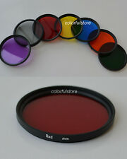 82 82mm 7 Full Color Colour Red Purple Green Orange Yellow Blue Grey Gray Filter