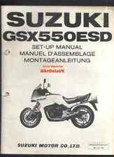 SUZUKI gsx550es-d (1983-on) rivenditore set-up manuale gs / gsx 550 es,gn-71, tscc