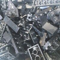 Lego Parts - 1kg Black Mixed Bricks & Pieces - Bulk Joblot - Starter Set Bundle
