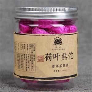 100g China Yunnan Puer Tea Lotus Leaf Pu-erh Tuo Cha Small Canned Pu Er Ripe Tea