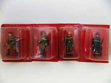 Lot 4 Figurines Hachette Soldat Russe Bersaglier Fantassin Allemand Carabinier