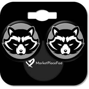 Marvel Guardians of the Galaxy Stainless Steel Stud Earring Set ROCKET RACOON