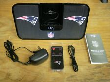 iHip NFL Portalbe Stereo System New England Patriots with Remote