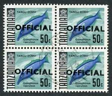 Tanzania SGO37 50c Block of 4 Cat 17 pounds