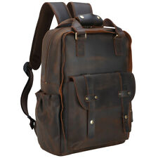 Men Leather Backpack 15