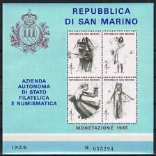 San Marino Filatelica postfris 1985 MNH block - Monetazione (X344)
