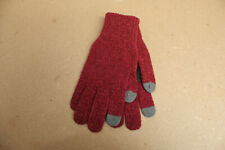 """Original Penguin Wool Blend Knit Glove with Palm Patch """"Rosewood"""""""