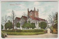 Hampshire postcard - Basing Church - P/U 1907 (A739)