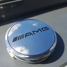 *NEU* 4x *AMG* Nabendeckel Nabenkappen SILBER glänzend 75mm Daimler Tuning