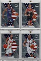 2019-20 Panini Mosiac Team USA Dream Team Lot of 4 Curry Durant Wade Carter Base
