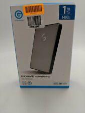 New GTechnology -G DRIVE mobile USB 1TB External USB  Portable Hard Drive-DT0355