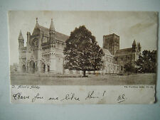 St Albans Abbey Early 1900s Old Postcard Posted 1904 Long Sutton Woodbury Series