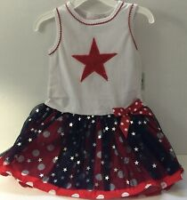Bonnie Jean Baby Girl 24M Dress Patriotic Red White & Blue 4th of July New