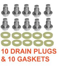 (10) 14mm 1.50 16mm Hex Drain Plugs & (10) Double Thick Nylon Gaskets 14mm
