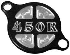 ModQuad - OC2-RBLK - Oil Filter Cover, 450R Logo - Black for HONDA TRX450R 06-16