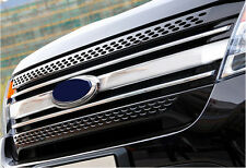 Chrome Front Center Grille Grid Cover Trim for Ford Explorer 2011 2012 2013 2014