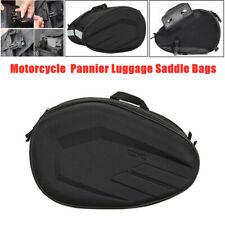 1Pair Universal Motorcycle Pannier Luggage Saddle Bags w/ Waterproof Rain Cover