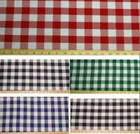 """Checkered Fabric 60"""" Wide By The Yard Gingham Checked Quality USA 3 COLORS"""