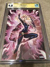 Captain Marvel 7 CGC SS 9.8 Campbell GLOW Virgin Variant Bree Larsen Avengers 19