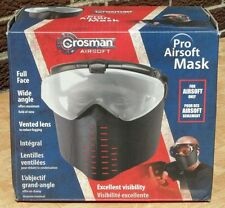 CROSMAN PRO AIRSOFT PAINTBALL FULL FACE MASK w/ WIDE ANGLE LENSES! FREE SHIPPING