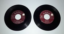 "Lot of 2 RECORD 7"" JOHNNIE BOMBA 45 Marry Me Polka Kiss the Bride Echo Believe Q"
