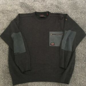 PAUL & SHARK YACHTING CREW NECK JUMPER GREY MEN'S USED SIZE L LARGE B29