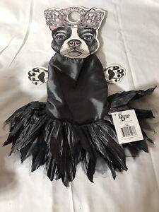 Pet Dog Costume Outfit Gray Dark Dress Doggie Dudz Size Small