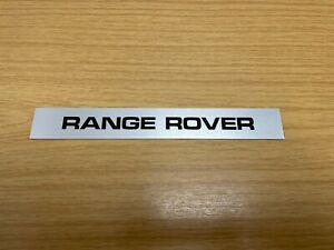 RTC4737 NOS Range Rover Stick On Name Plate Decker / Scuttle