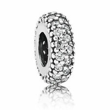 Authentic PANDORA Charm Sterling Silver Spacer Clear Cubic Zirconia 791359CZ