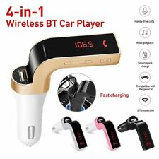 Car Kit Bluetooth Fm Transmitter Adapter Mp3 Player Handsfree Usb Charge Tf Card
