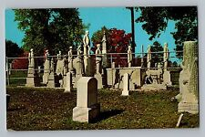 Mayfield Kentucky KY Woodland Monuments Maplewood Cemetery Teich Postcard 1966