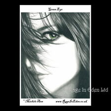 **GREEN EYE** Goth Fantasy Art A4 Photo Print By Michele Ann