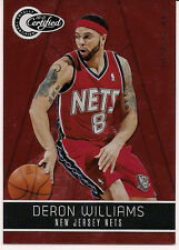 2010-11 CERTIFIED DERON WILLIAMS TOTALLY RED  & 3-2009-10 UD, PANINI, CLASSICS