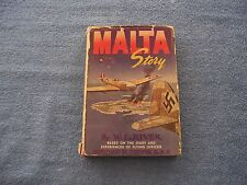 MALTA STORY by W. L. River/1st Ed/HCDJ/Military/War/WWII 1939-45