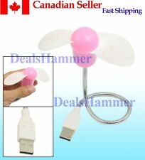 USB 2.0 Mini Flexible Cooler Cooling Fan Pink for Laptop  SHIP FRPM FROM CANADA