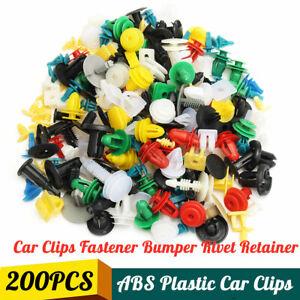 200X Plastic Car Door Trim Clip Bumper Rivet Screws Body Panel Push Fastene