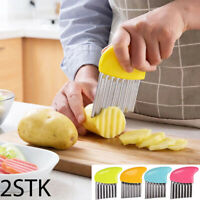 2x stainless steel wave french fries cutter potato device  kitchen knives  MW