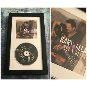 GFA Set You Free Country Legend GARY ALLAN Signed CD Booklet Framed COA