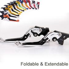 Fold&Extend Brake Clutch Levers For Yamaha MT-09/SR/FZ9/MT-07/FZ7/XJ6 titanium