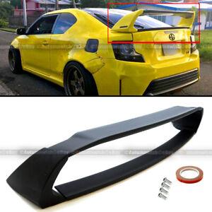 For 11- 16 2nd Gen Scion TC Unpainted Black ABS Plastic Rear Trunk Wing Spoiler