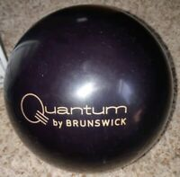 "Brunswick Quantum Classic Black Bowling Ball 1st Quality 15 Pounds | 3 - 4"" Pin"