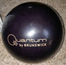 "Brunswick Quantum Classic Black Bowling Ball 1st Quality 15 Pounds | 3 - 4"" Pin"