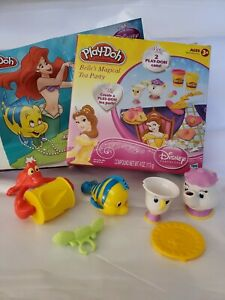 Disney Play-Doh Belle's Tea Party And Little Mermaid Replacement Pieces